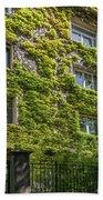 Montmarte Paris Ivy Covered Building Beach Towel