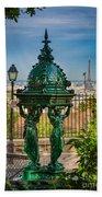 Montmartre Wallace Fountain Beach Sheet