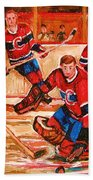 Montreal Forum Hockey Game Beach Towel