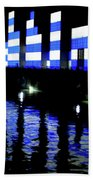Montreal Port Night Beach Towel