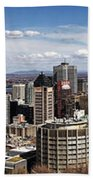 Montreal Seen From Above Beach Towel