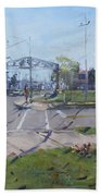 Monument At Pine Ave And Portage Rd Beach Towel