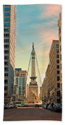 Monument Circle - Indianapolis Beach Towel