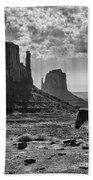 Monument Valley Horses Beach Towel