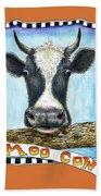 Moo Cow In Orange Beach Towel