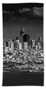 Moody Black And White Photo Of San Francisco California Beach Towel
