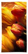 Moody Tulips Beach Towel