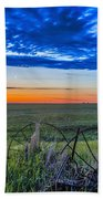 Moon And Venus In Conjunction At Dawn Beach Towel