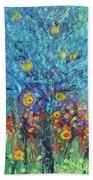 Moon Flowers Beach Towel