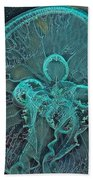 Moon Jellyfish Art Beach Towel