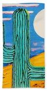 Moon Light Cactus L Beach Towel