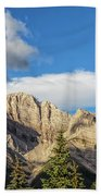 Moon Over Canmore Alberta Beach Towel