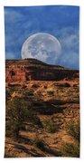 Moon Over Canyonlands Beach Towel