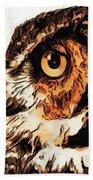 Moon Owl Beach Towel