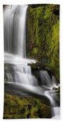 Moon Pass Waterfall Beach Towel