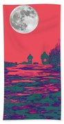Moon Racers Beach Towel