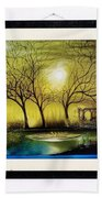 Moonlight At Masinagudi Beach Towel