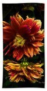 Moonlight Dahlia Beach Towel