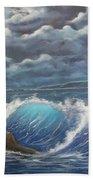 Moonlight Fantasy Beach Towel
