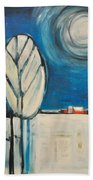 Moonlight On The First Snow Beach Towel