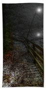 Moonlight On The River Bank Beach Towel