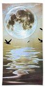 Moonlight On Water Beach Towel