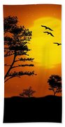 Moonlight, Supermoon Beach Towel