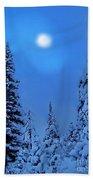 Moonlight  Through The Twilight Haze Beach Towel
