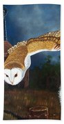 Moonlit Flight Beach Towel