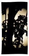 Moonlit Leaves No 1 Beach Towel