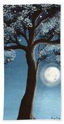 Moonlit Tree Beach Towel