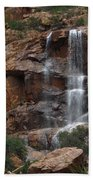 Moonlit Waterfall Beach Towel