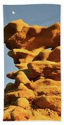 Moonrise Over Fantasy Canyon Hoodoo Beach Towel