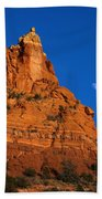 Moonrise Over Red Rock Beach Towel by Mike  Dawson