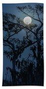 Moonrise Over Wetlands Beach Towel
