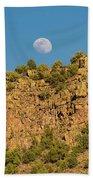 Moonrise Rio Grande Gorge Pilar New Mexico Beach Towel