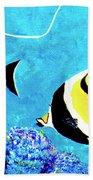Moorish Idol Fish  #50 Beach Towel