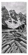 Moraine Lake Driftwood No 1 Beach Towel
