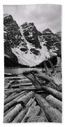 Moraine Lake Driftwood No 2 Beach Towel