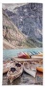 Moraine Lake Transportation  Beach Towel
