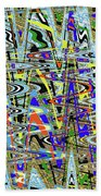 More Colors Abstract Beach Towel