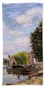 Moret-sur-loing Beach Towel by Alfred Sisley