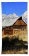 Mormon Row Barn 2 Beach Towel