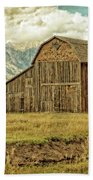 Mormon Row Barn No 3 Beach Towel