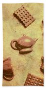 Morning Breakfast Chocolate Tea Set  Beach Towel