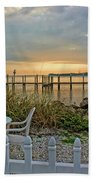 Morning By The Bay Beach Towel