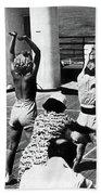Morning Calisthenics On The Rms Queen Mary 1938 Beach Towel