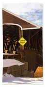 Morning Finds The Rowell Bridge Beach Towel