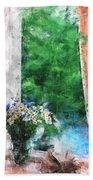 Morning Flowers Beach Towel
