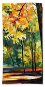 Morning Forest Beach Towel